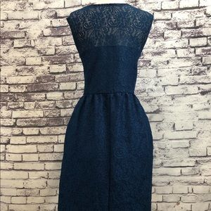 Dresses - Blue Lace Aline Party Wedding Formal Sheath Dress